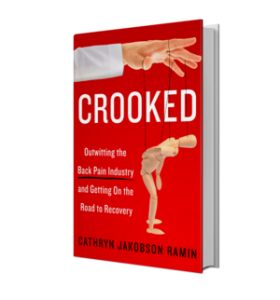 Front cover of CROOKED, book on back pain solutions