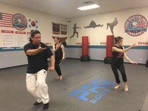 Bobby Garcia leads Tai Chi class