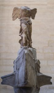 Winged Victory of Samothrace: the wide base ensure it won't lose balance.